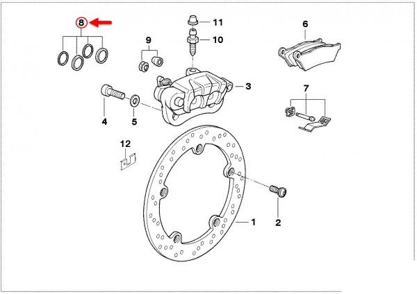 Original BMW Motorrad Dichtungssatz Bremssattel R 1100 R 1100 34212330311