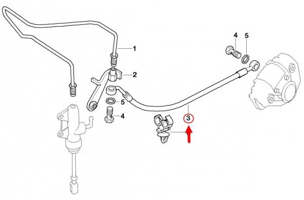 Original BMW Motorrad Bremsschlauch hinten  F 650 GS, G 650 GS 34327661513 NEU