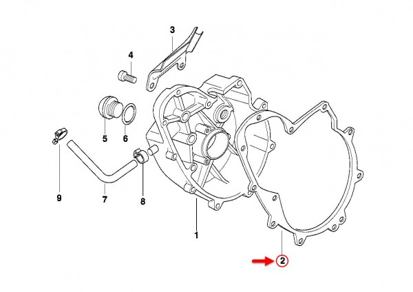 Original BMW Motorrad Dichtung F 650 94 F 650 11142343042 NEU