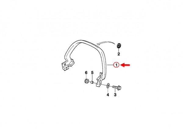 Original BMW Motorrad Haltegriff SILBER          46542325713 NEU