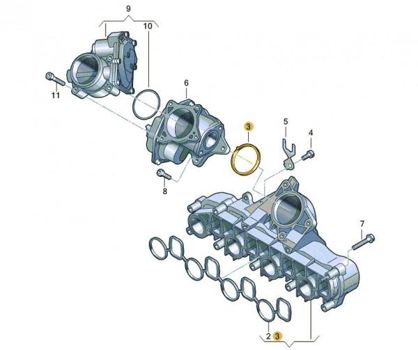 Original VW Amarok Crafter 2E Abgasrückführungsventil AGR Ventil inkl Dichtung
