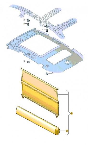 Original Audi Q7 Netztrennwand 4L0861691  NEU