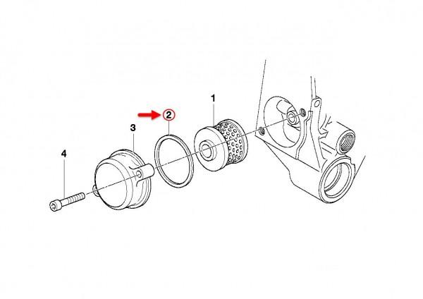 Original BMW Motorrad Dichtung C1 C1 200 11117653483 NEU