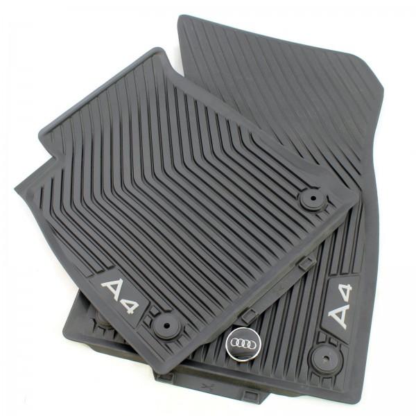 Audi A4 B9 Original Allwetterfußmatten Gummifußmatten vorne Schwarz 8W1061501
