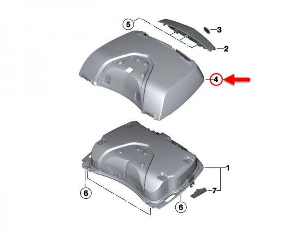 Original BMW Motorrad Aussenschale Topcasedeckel grundiert  K1600 GT 7729426 NEU