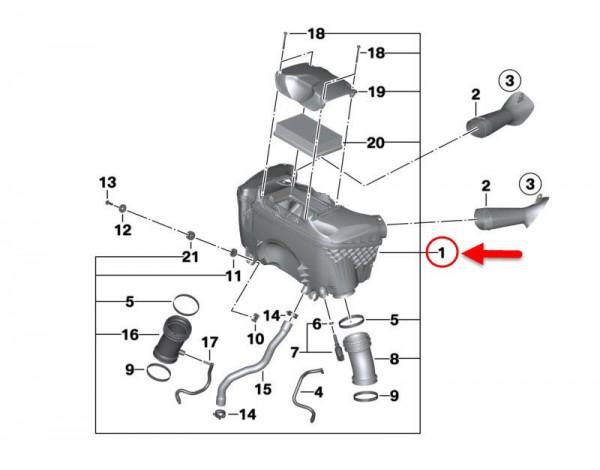Original BMW Motorrad Ansauggeräuschdämpfer R 1250 GS R 1250 RT 13718567190 NEU