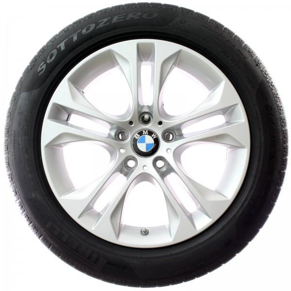 Original BMW X3 F25 X4 F26 18 Zoll Winterräder Doppelspeiche 605 RDC 6862886