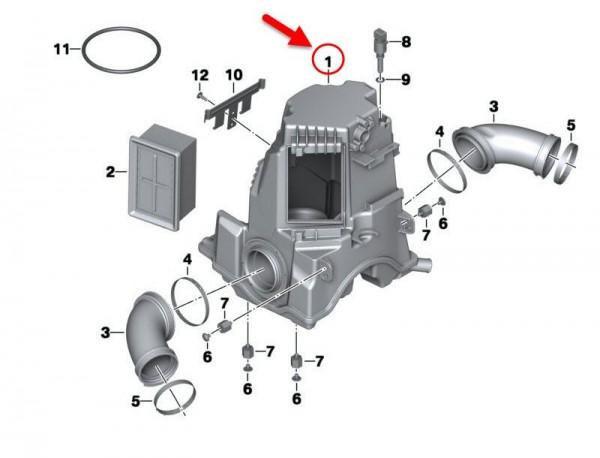 Original BMW Motorrad Ansauggeräuschdämpfer R 1200 RT 13717720045 NEU