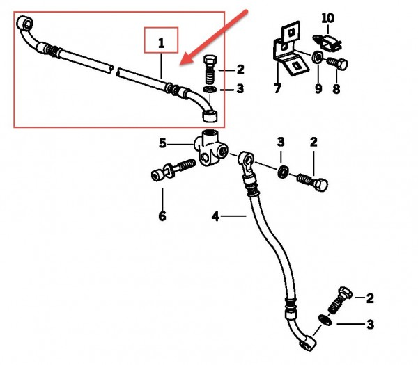 Original BMW Motorrad Bremsschlauch Leitung  R 1100 RS 34322314662 NEU
