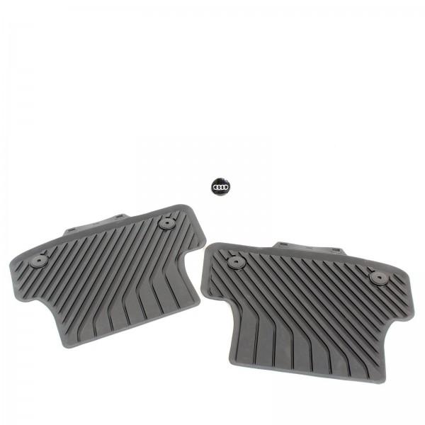 Audi A3 S3 8V Original Gummifußmatten hinten ohne Verclipsung 8V0061511A 041 NEU
