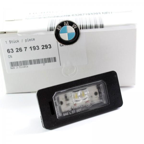 Original BMW LED Kennzeichenleuchte Nummerschildleuchte 63267193293 NEU
