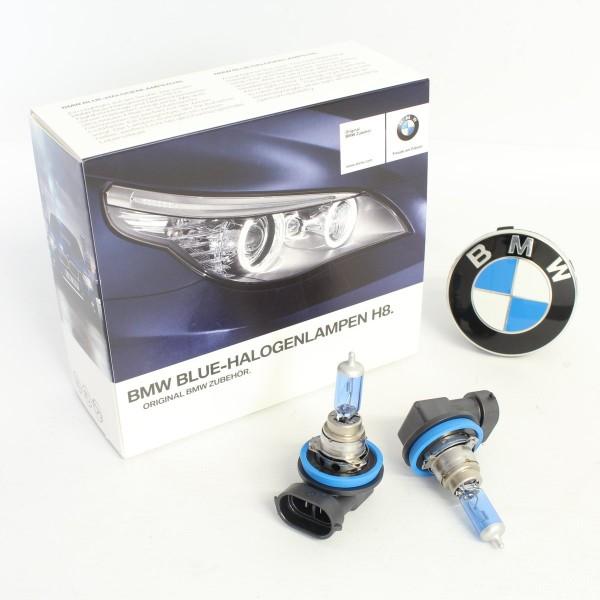 Original BMW Blue Halogenlampen H8 1er 3er 5er 6er 7er Tagfahrlicht 2359505 NEU