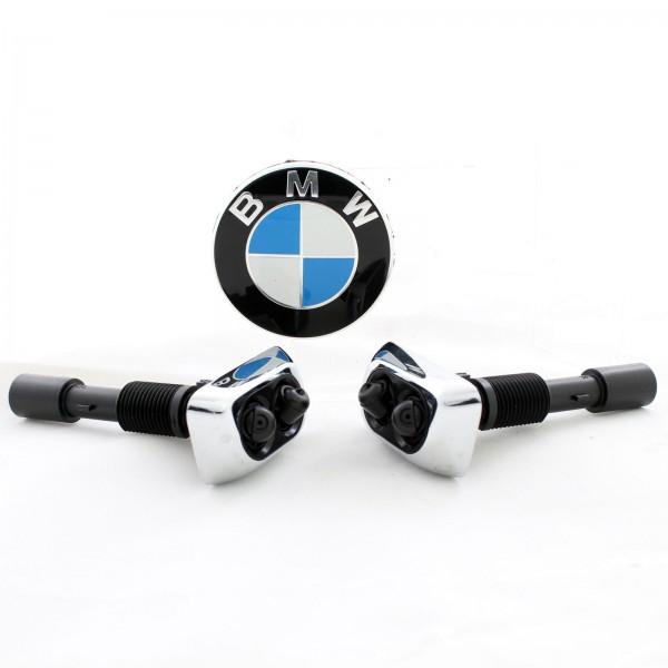 BMW 7er E38 Original Spritzdüse Satz Chrom für Waschanlage links rechts NEU