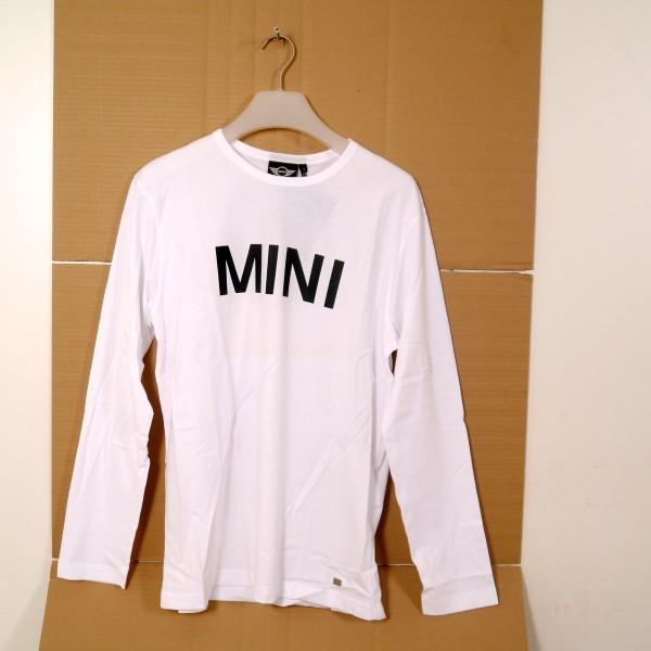 Original MINI Longsleeve Size L Mens Weiß 80142152688 ***NEU***