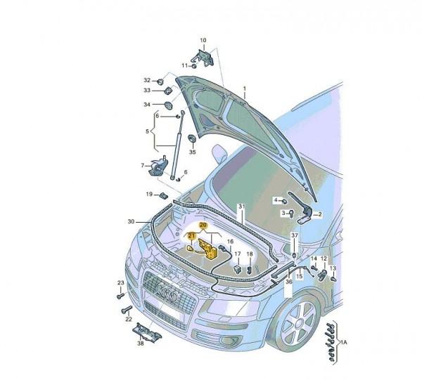 Original A3 8P A3 Sportback 8PA Motorhaubenschloss inkl Mikroschalter 8P0823509D