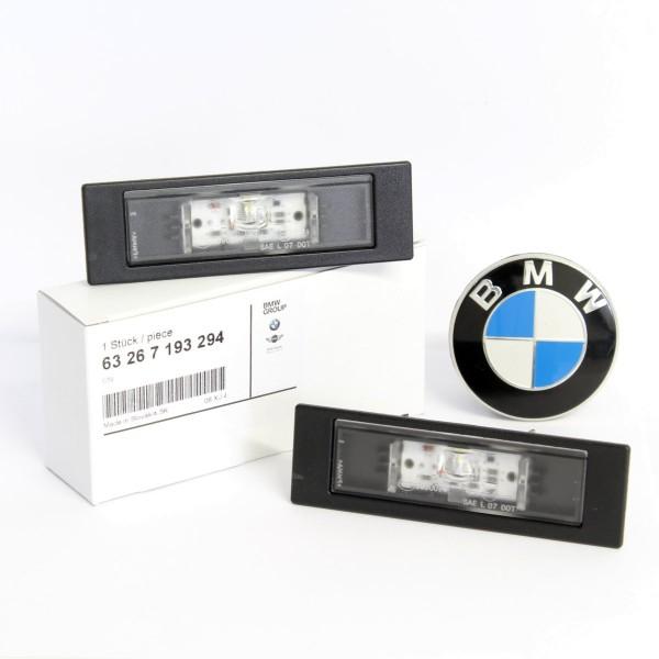 Original BMW LED Kennzeichenleuchte Nummerschildleuchte 2x 1er 6er 7193294 NEU