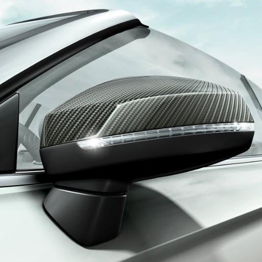 Audi A3 8V Original Carbon Spiegelkappen Set 8V0072530B 3Q0 NEU