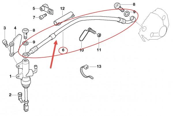 Original BMW Motorrad Bremsschlauch L=350MM R 1150 GS Leitung 34322338183 NEU