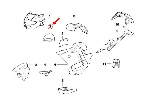 Original BMW Motorrad Spiegel grundiert links R1100 RT R 1150 RT 46632313715 NEU