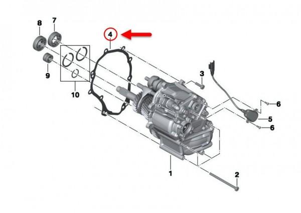 Original BMW Motorrad Deckeldichtung A40 K 1600 Bag 23117722150 NEU